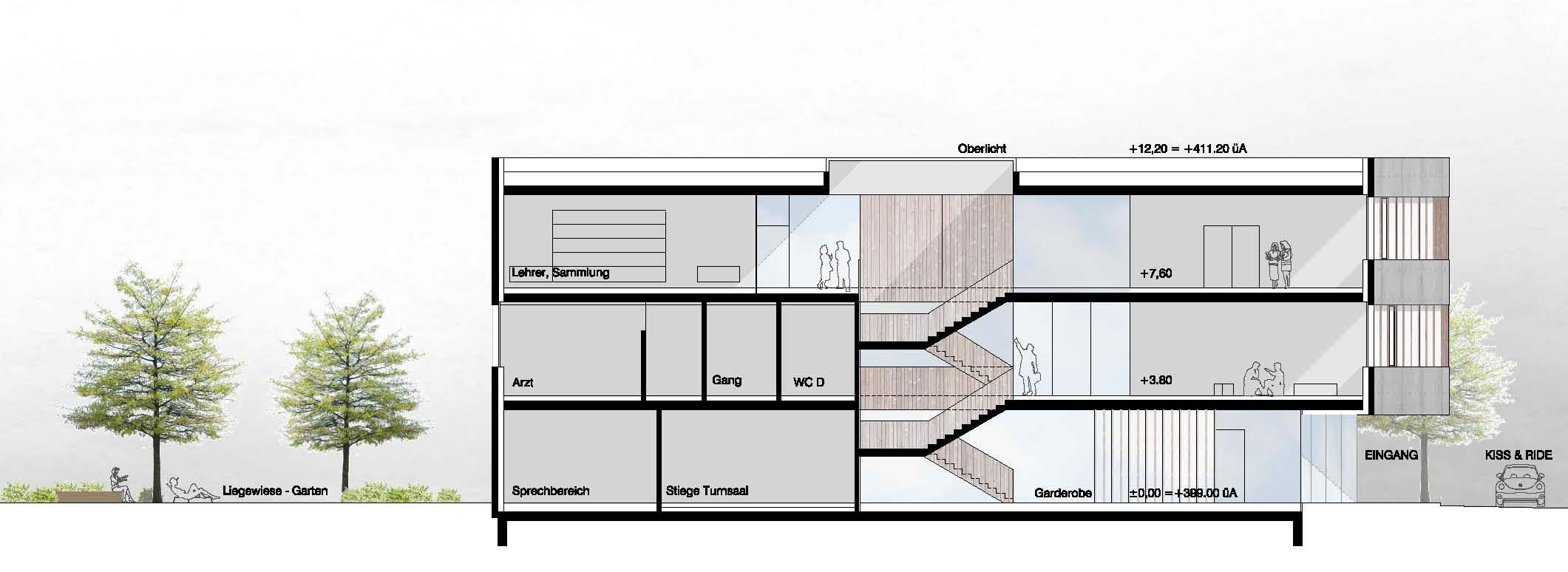 14 Wb Bo Schnitt 1 Waax Architekten Zt Gmbh